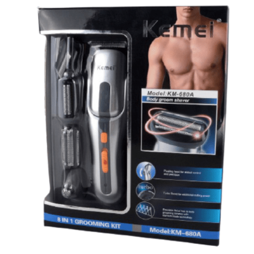 8 in 1 Professional Electric Hair Clipper and Rechargeable Hair Trimmer for Men Kemei KM-680A