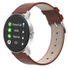 Bakeey T90 1.3inch Blood Pressure O2 Monitor Multi-sport Modes Music Camera Control Smart Watch -Brown