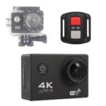 F60R 4K Action Camera, Wifi +Wrist RF Sport CAM 16MP Version V3.0, 170D Sports DV 30M Waterproof +10 Accessories- Black