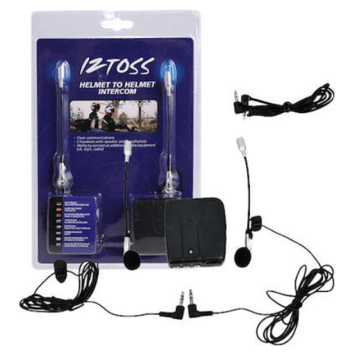 Intercom KIT for motorcycle helmets pair of MP3 earphones AUX MIC 90251