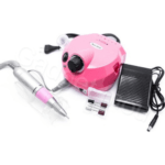 Professional Manicure Nail polisher 25000 RPM With 6 pieces Nozzles, Nail Master DM-202 30W Pink Gaget mou