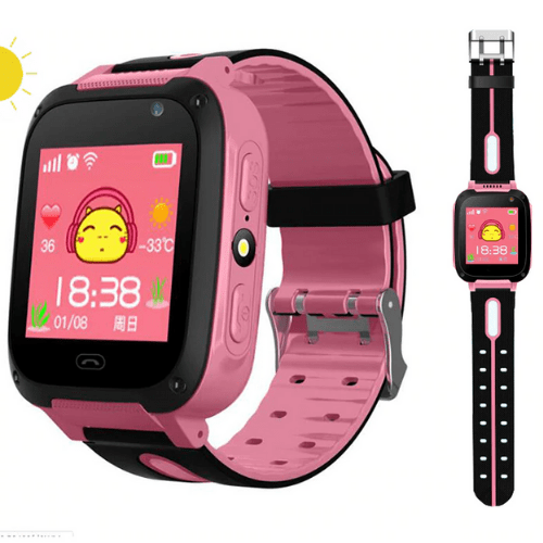 Q9 Children Smartwatch Anti-lost Security Tracking Positioning one-key Call to Help SOS Children's Smartwatches – pink
