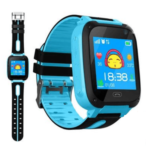 Q9 Children Smartwatch Anti-lost Security Tracking Positioning One-key Call to Help SOS Children's Smartwatches -blue