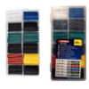 Sleeves in 6 dimensions and colors, 180 pieces Wenchang