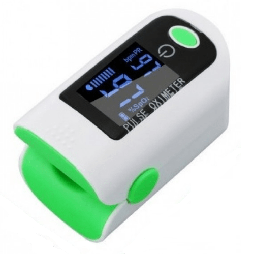 Finger Pulse Oximeter, Heart Rate Meter with LED Screen OEM - X1805 - White