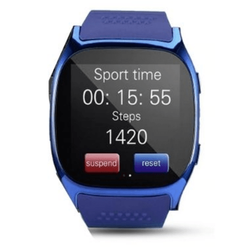 Smart Watch LYNWO T8, 1.54 inch, Dial & Pedometer & Anti-Theft & Sleep Monitor & FM Radio Blue