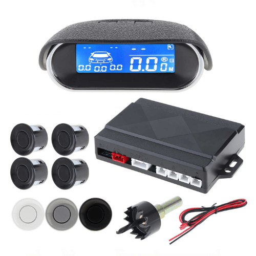 Universal Parking Sensor Kit LCD With Display - 4 Radar Sensor System and Reverse Indicator