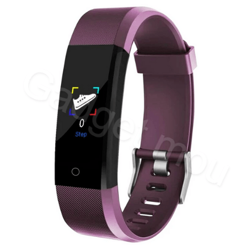 Weatherproof Smart band Fitness Tracker 115Plus Purple
