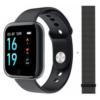 T80 Fitness Smart Bracelet Women Smart Watch Sports Heart Rate Blood Pressure Monitor black