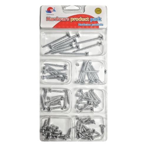80 Piece Wood Screw Assortment Kit - Chenyang 35399-1