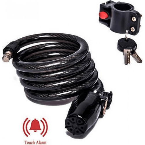 Alarm Cable Bicycle Lock Durable 10mm Thick Steel Cable - LK-215
