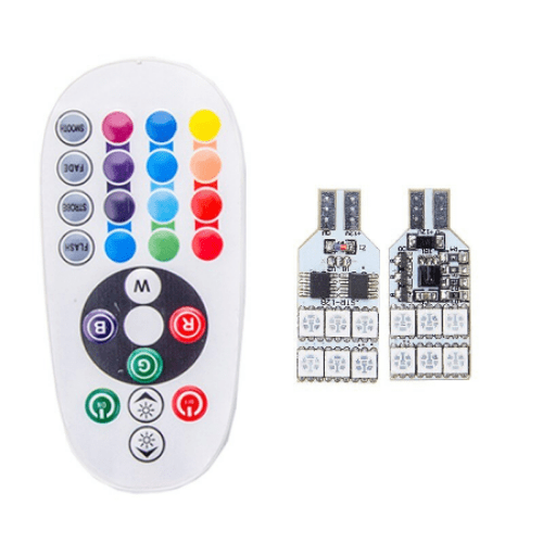 Car Customization RGB LED SMD 12 5050 Interior Lamp Universal with Remote Control - MDS-87G