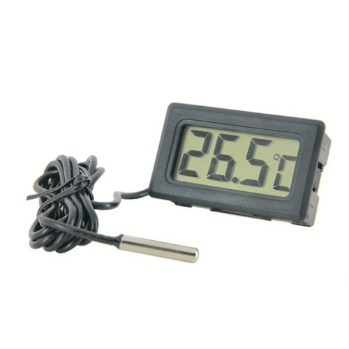 Digital LCD Thermometer Hygrometer with Probe Temperature Sensor Weather Station - TPM-10