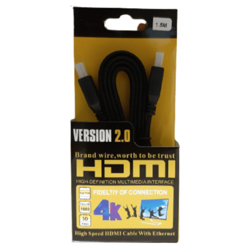 Gold Plated HDMI Version 2.0 Fidelity of Connection HDMI Cable 150cm - FB-1022