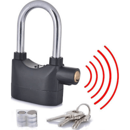 High Security Padlock Anti Tamper with Loud Alarm 110dba - Alarm Lock