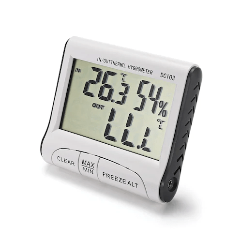 Indoor and Outdoor Digital Thermometer Hygrometer with LCD Display - DC103