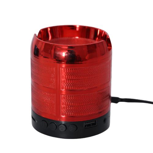 Mini Bluetooth Speaker FM Radio Integrated Phone Holder Red - WJ-01087BT