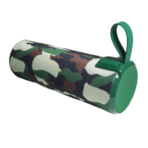 Portable Wireless High Power Bluetooth Speaker FM Radio 2x5W Speaker Green Camouflage Camo Color - CMO-556