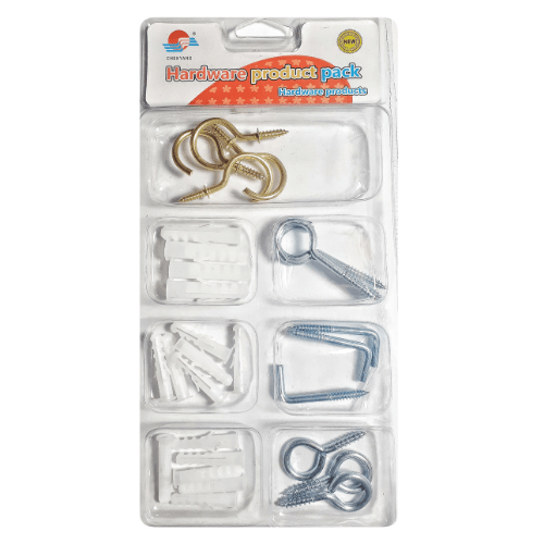 Screw Hook with Wall Plugs Assortment Kit - Chenyang 35399-3