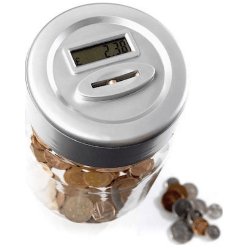 Smart Safe Jar, Piggy Bank Electronic Digital with Automatic Counting of Euros