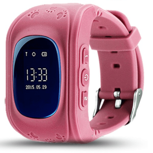 Smartwatch Hello Q50, GPS tracker + SOS call for Kids, Anti-Lost Monitoring, Pink