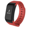 Andowl Y1 Smart Band Bluetooth Smartwatch with Recording of Steps, Sleep & Heart Rate Red