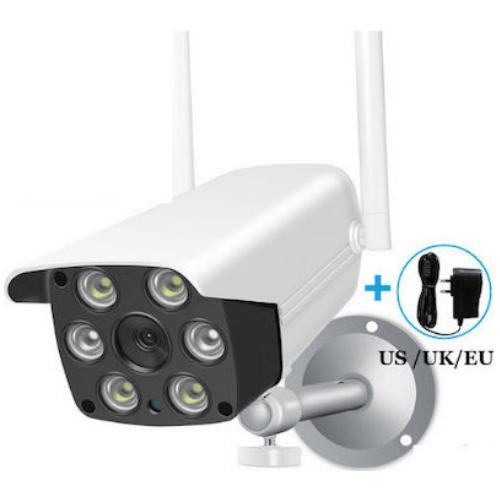YCC365 PLUS Outdoor - HD 1080P WiFi IP Camera CCTV Surveillance Wireless Outdoor Waterproof Camera Security Color Night Vision Bullet Camera with Adapter
