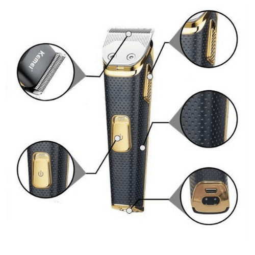 Rechargeable Stainless Steel Shaver, Kemei KM-6366