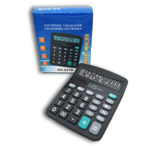 Electronic Calculator Big Display 12-Digit Solar Electronic Calculator – OEM KK-837B