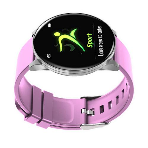 W8 Smart Bracelet Heart Rate Blood Pressure Pedometer Smartwatch (Pink)