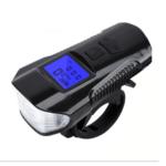 Bike Light with Horn Speedometer USB Rechargeable Waterproof FY-317