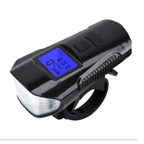 Bike Light with Horn Speedometer USB Rechargeable Waterproof FY-317