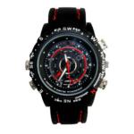 HP/DVR Wrist Watch Video Recording Mp3 USB- Black