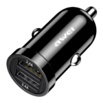 2.4A USB Car Charger Awei C-826 Black