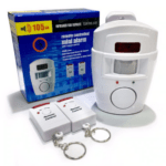 Alert Infrared Ray Remote Sensor Anti-theft Motion Detector Alarm +2 remote controller