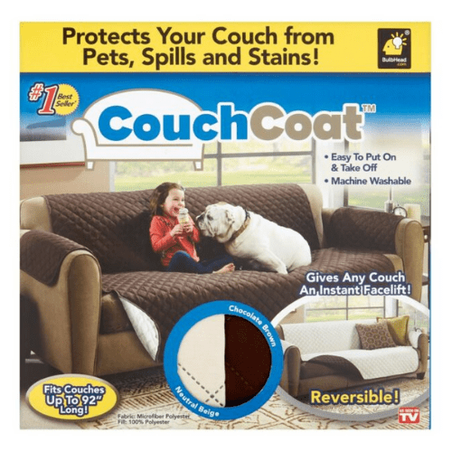 Couch Coat Protects your Couch for pets, spills and stains BulbHead