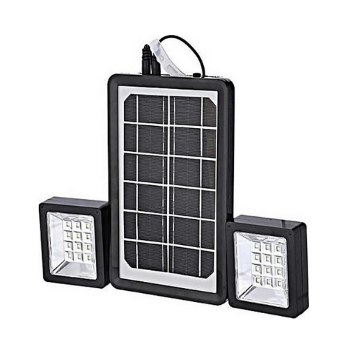 Solar Lighting Panel with 2 LED Floodlights and Power Bank 6V 3W - Andowl QY-05