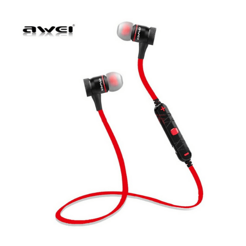 Bluetooth Wireless Headphones for mobile Magnetic Awei A920 BL- Red
