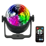 7 Color Strobe LED Magic Ball 3w Sound Control RGB Light Effect with Remote Control
