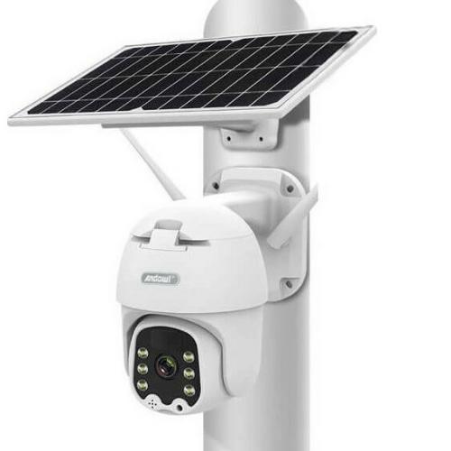 Solar Outdoor Camera Q-S33 Andowl 5.0MP WiFi Alert PTZ Camera, Rotation, Night Vison 5.0MP By i-Cam+ APP