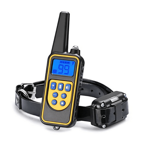 Rechargeable Waterproof Electronic Training Dog Collar with LCD Display