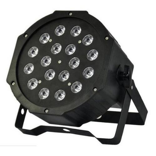 18 LEDs 3W RGBW LED Mini Flat Par Light