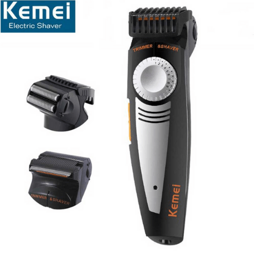 Rechargeable Rotary Electric Shaver and Trimmer - Kemei KM-819