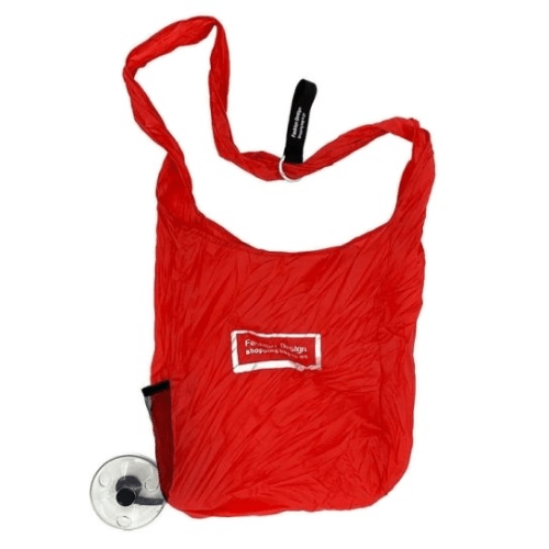 Reusable Shopping Bag Keychain Red - Shopping Bag Roll Up