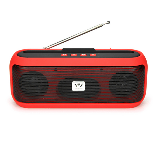 Portable Bluetooth Speaker WSA-850, with TF/USB/FM/Handsfree/Mobile Holder – Red