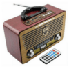 Portable Retro Rechargeable Radio & Mp3 Player With Remote Control - Meier M-115BT