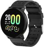 Smart Bracelet IP65 Waterproof Fitness Tracker Pedometer Fitness Tracker Smartwatch-119 Plus (Black)