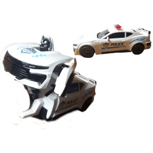 Transforming Police Car With 3D Lights Bump & Go 5090