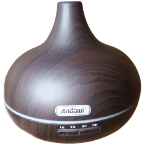 Ultrasonic Humidifier And Aromatherapy Aroma Diffuser 7 Colours LED Light Wood Andowl Q-T63