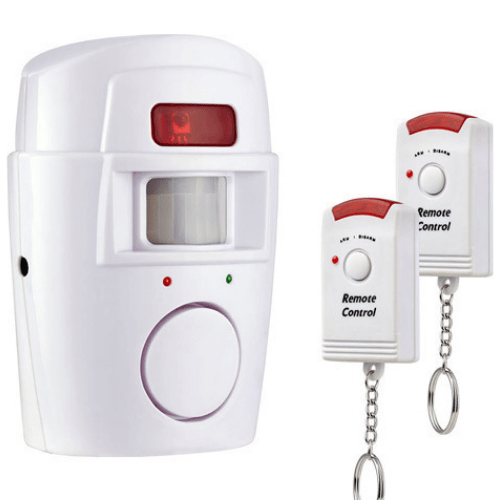 Alert Infrared Sensor 105db Anti-theft Motion Detector Alarm Monitor Wireless Remote Controlled Alarm System 37211